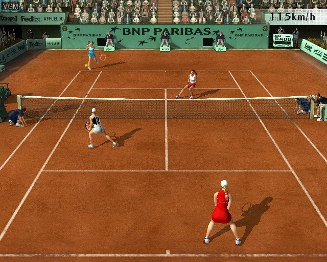 Image in-game du jeu Roland Garros 2005 - Powered by Smash Court Tennis sur Sony Playstation 2