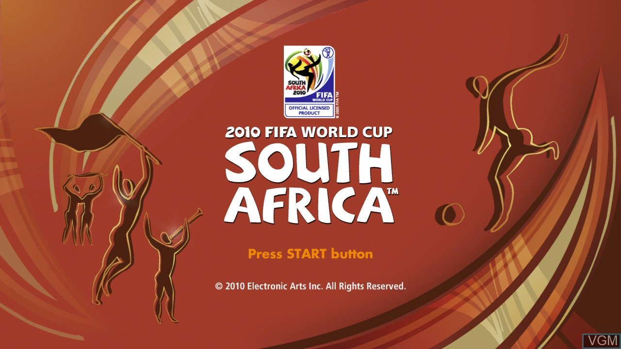 Image de l'ecran titre du jeu 2010 FIFA World Cup South Africa sur Sony Playstation 3