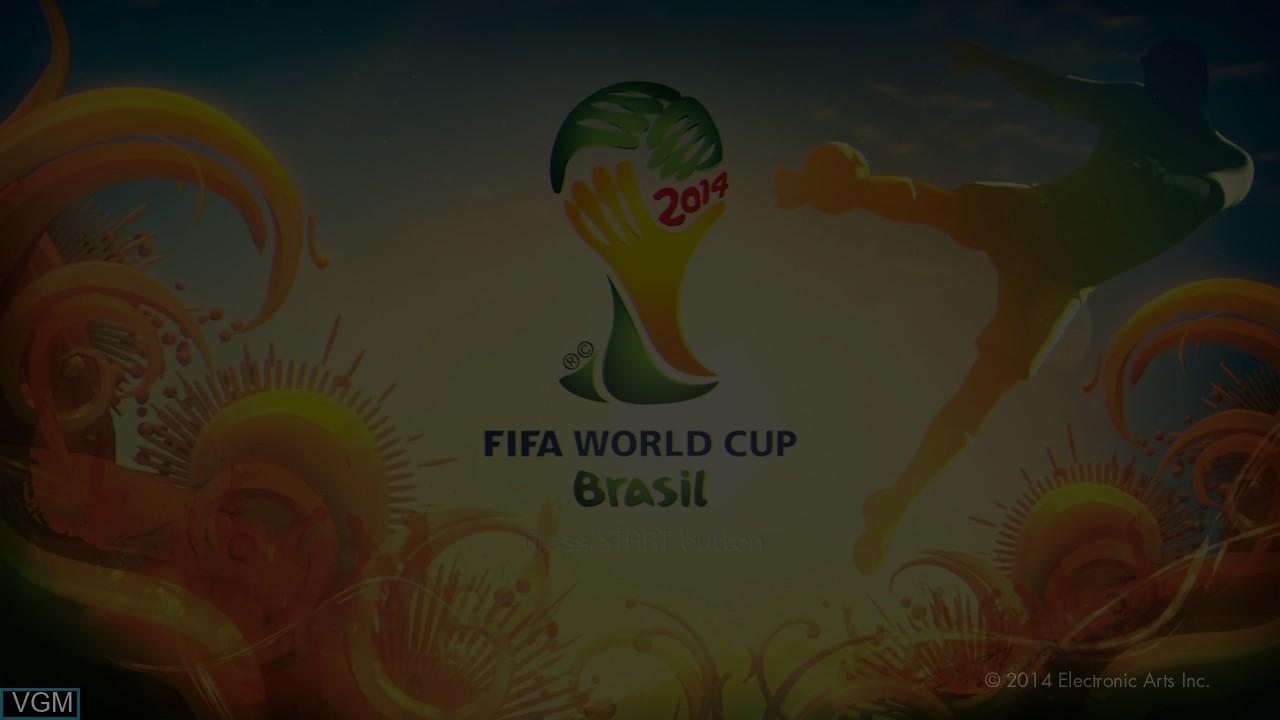 Image de l'ecran titre du jeu 2014 FIFA World Cup Brazil sur Sony Playstation 3