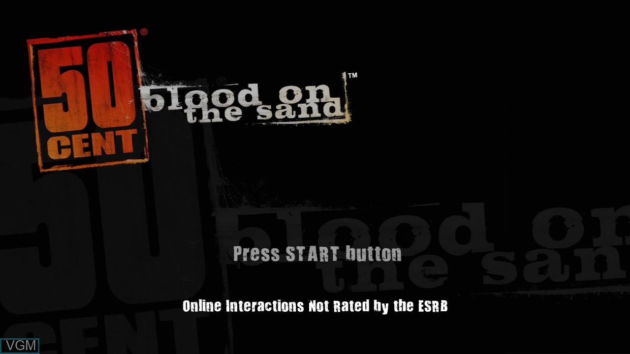 Image de l'ecran titre du jeu 50 Cent - Blood on the Sand sur Sony Playstation 3