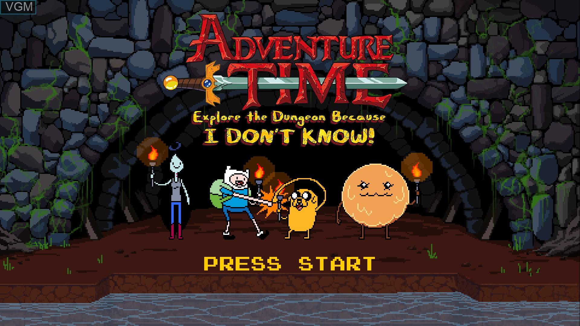Image de l'ecran titre du jeu Adventure Time - Explore the Dungeon Because I DON'T KNOW! sur Sony Playstation 3