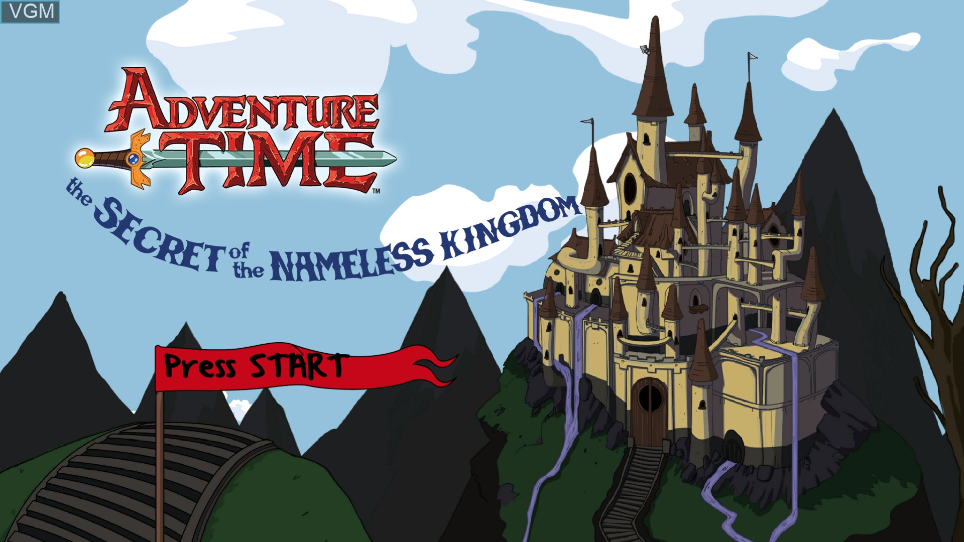 Image de l'ecran titre du jeu Adventure Time - The Secret of the Nameless Kingdom sur Sony Playstation 3