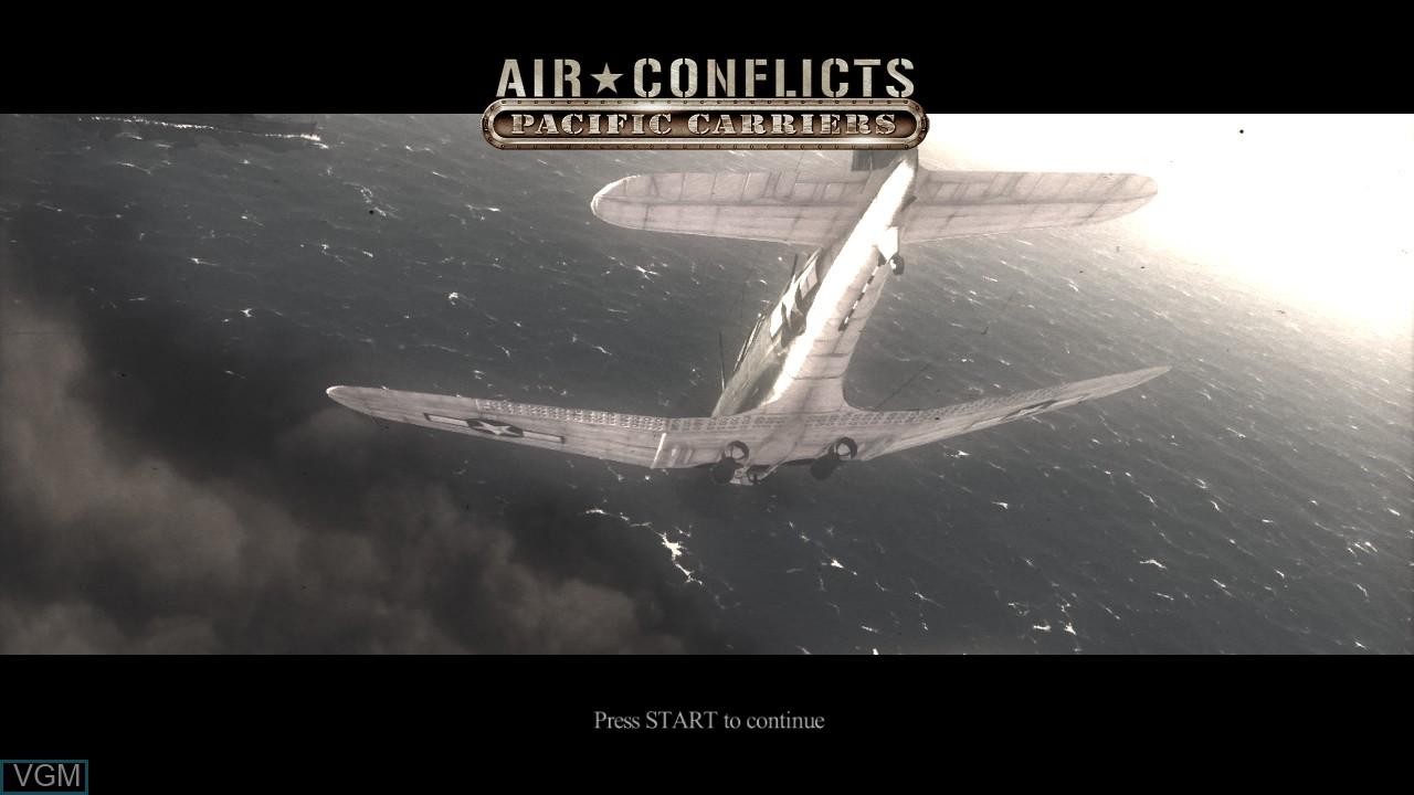 Image de l'ecran titre du jeu Air Conflicts - Pacific Carriers sur Sony Playstation 3