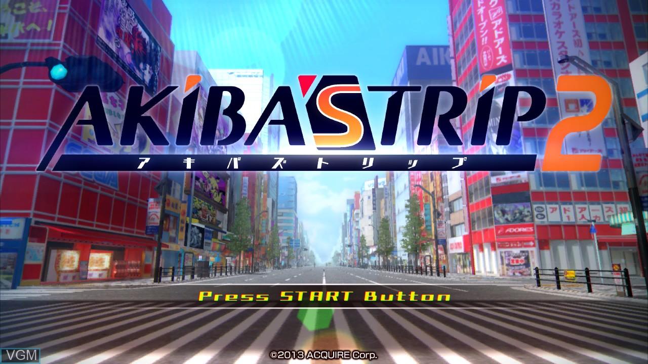 Image de l'ecran titre du jeu Akiba's Trip 2 sur Sony Playstation 3