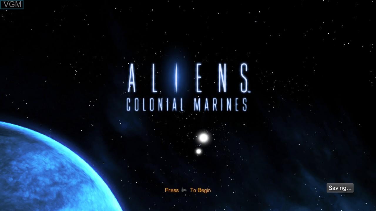 Image de l'ecran titre du jeu Aliens - Colonial Marines sur Sony Playstation 3