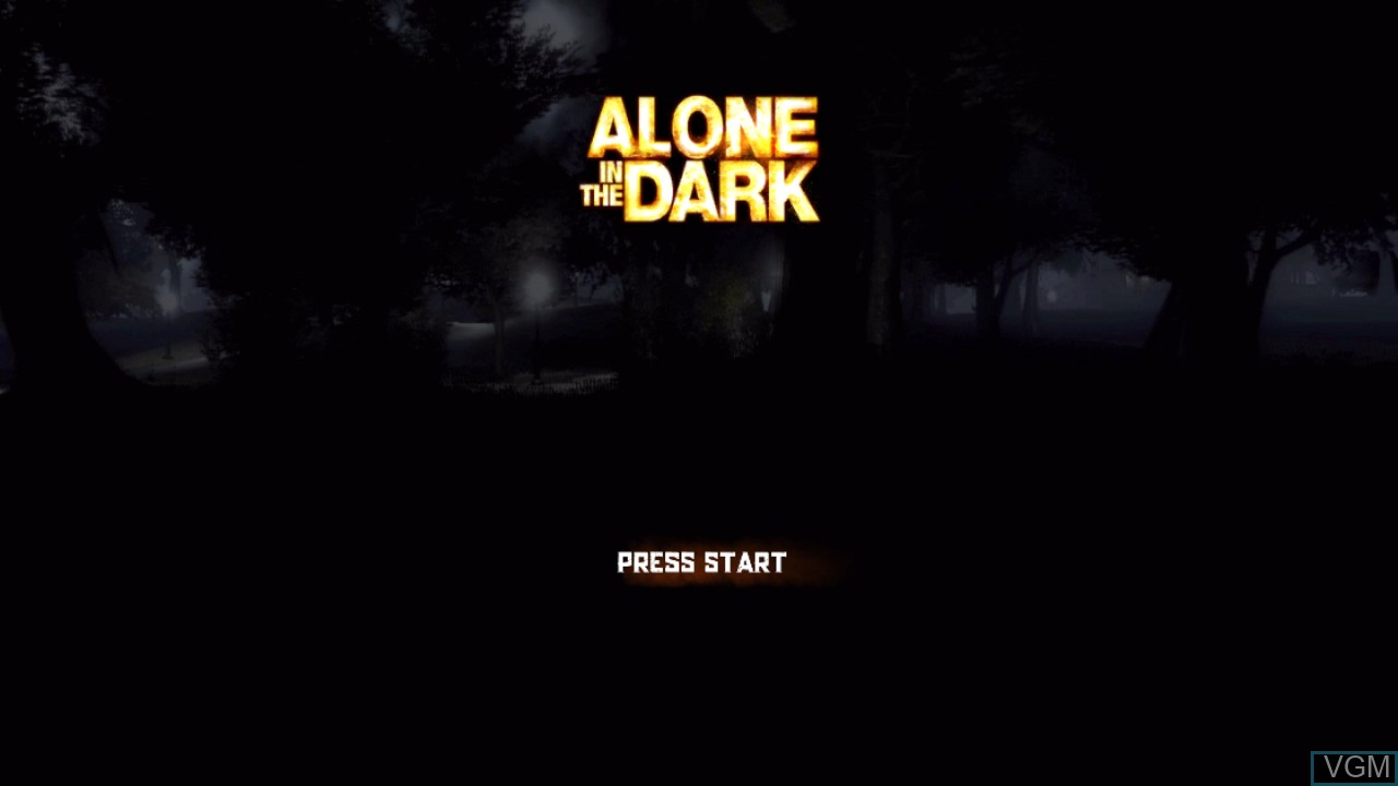 Image de l'ecran titre du jeu Alone in the Dark sur Sony Playstation 3