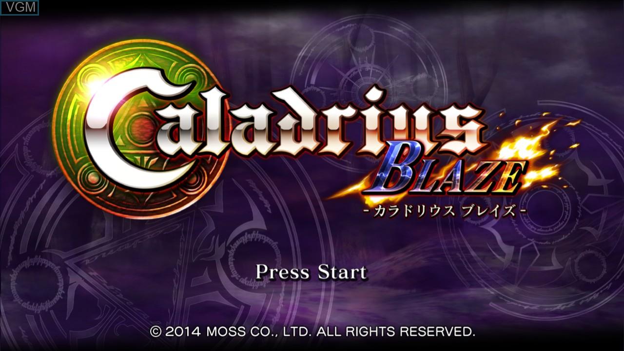 Image de l'ecran titre du jeu Caladrius Blaze sur Sony Playstation 3