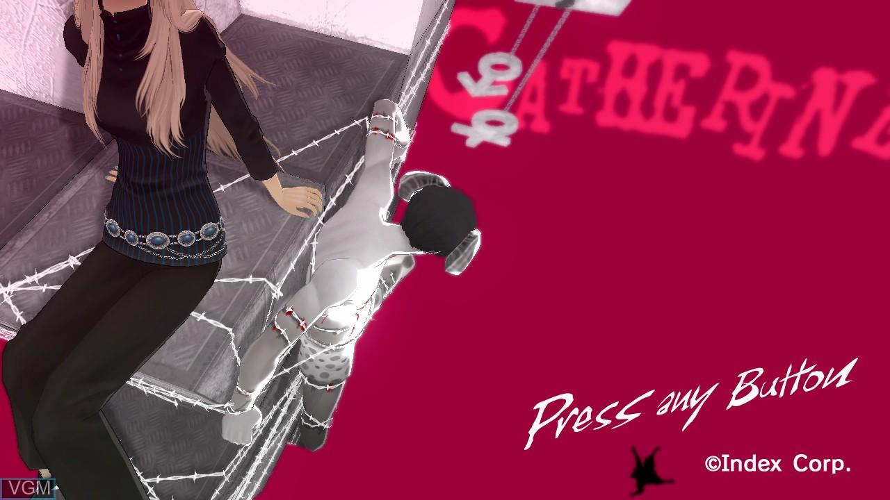 Image de l'ecran titre du jeu Catherine sur Sony Playstation 3
