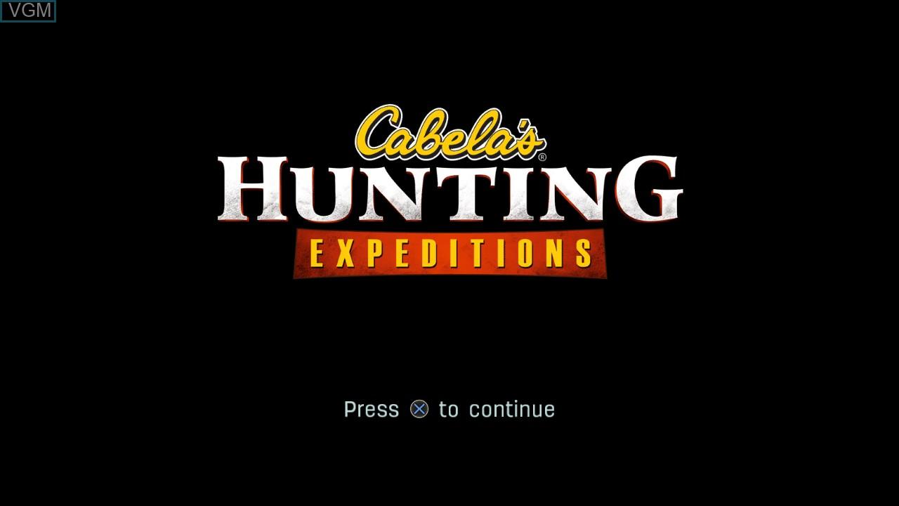 Image de l'ecran titre du jeu Cabela's Hunting Expeditions sur Sony Playstation 3
