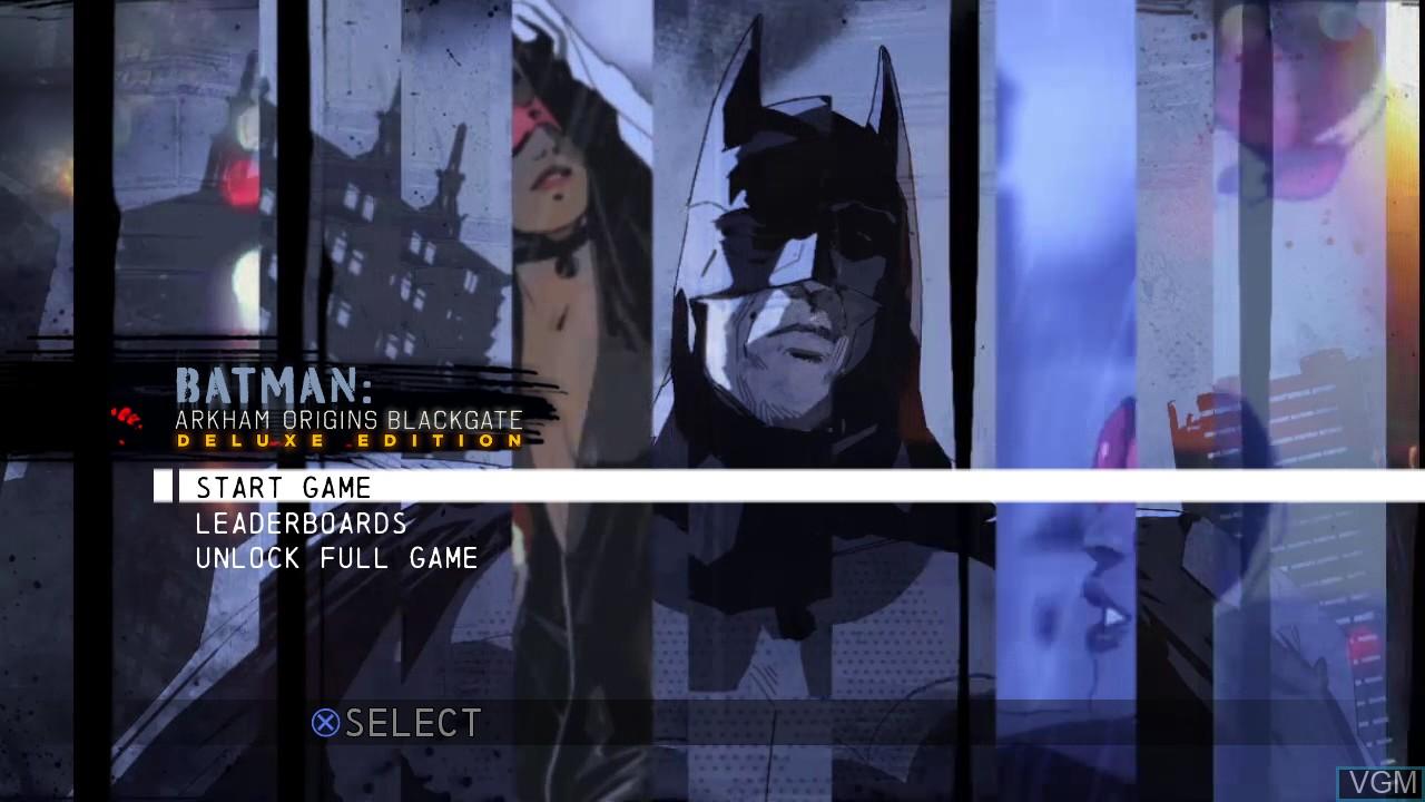 Image de l'ecran titre du jeu Batman - Arkham Origins Blackgate - Deluxe Edition sur Sony Playstation 3