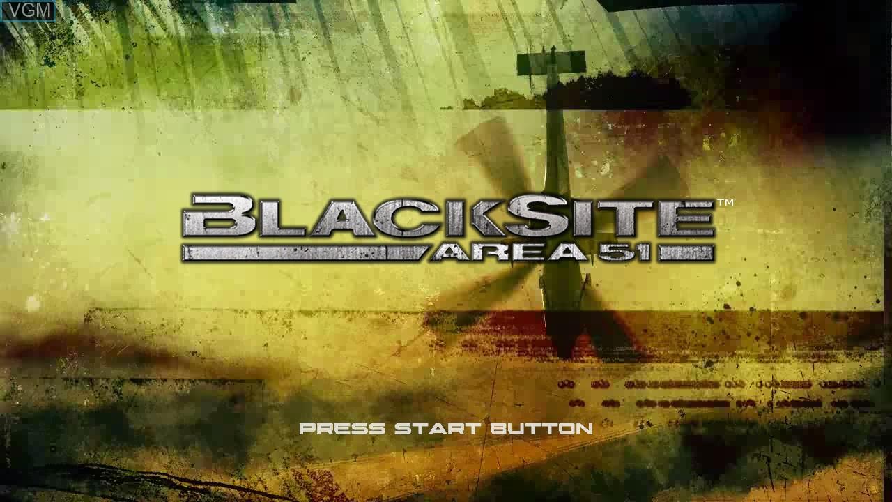 Image de l'ecran titre du jeu BlackSite - Area 51 sur Sony Playstation 3