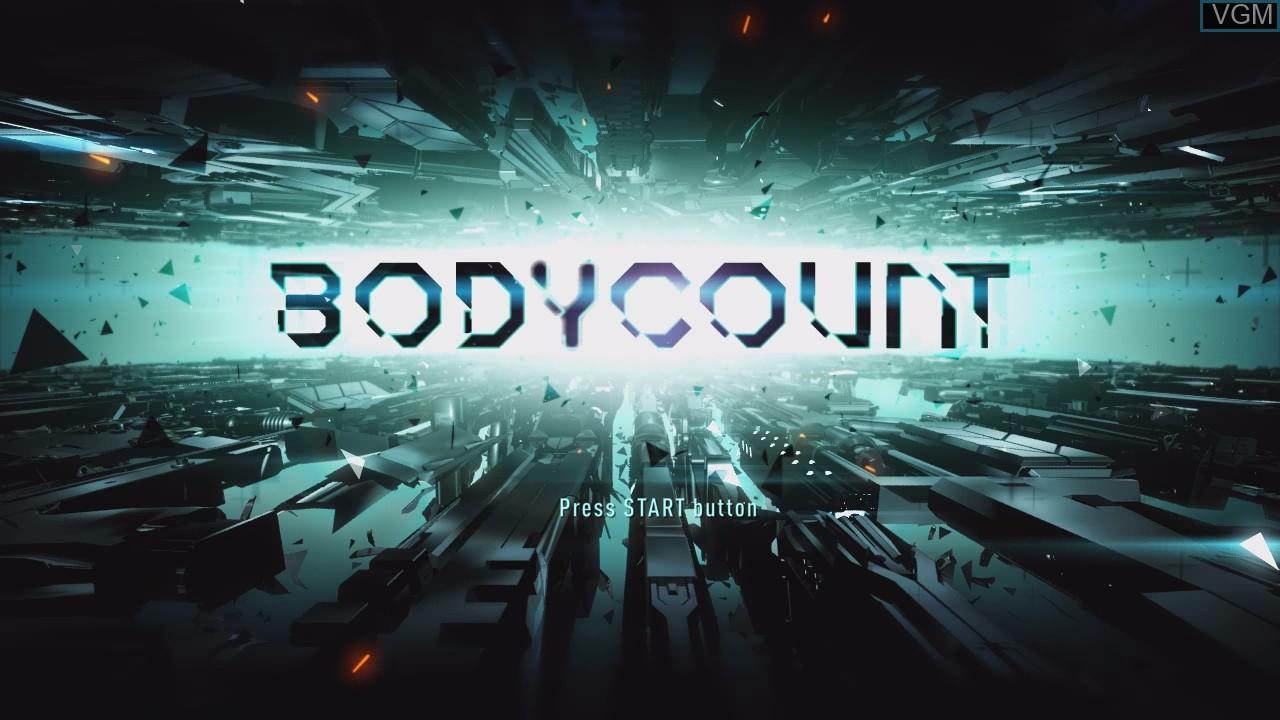 Image de l'ecran titre du jeu Bodycount sur Sony Playstation 3