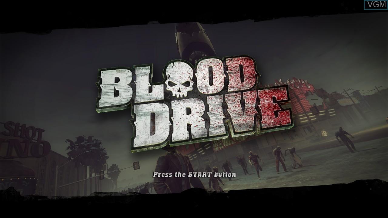 Image de l'ecran titre du jeu Blood Drive sur Sony Playstation 3