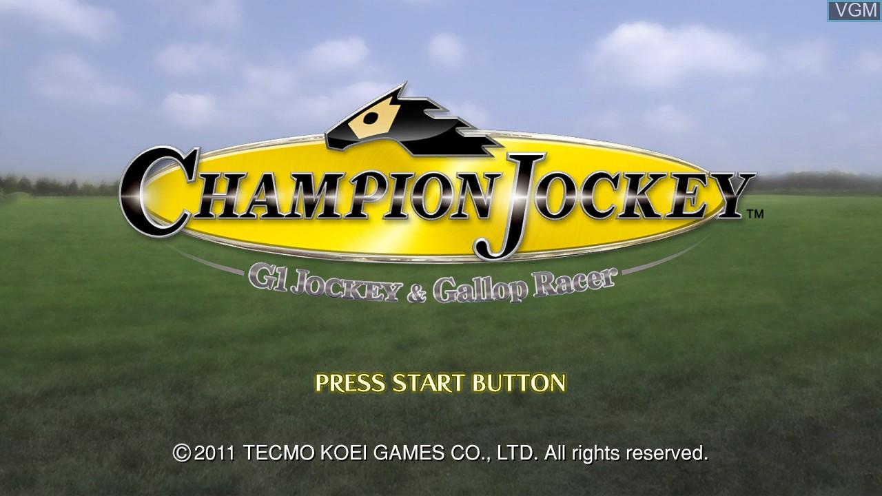 Image de l'ecran titre du jeu Champion Jockey - G1 Jockey & Gallop Racer sur Sony Playstation 3