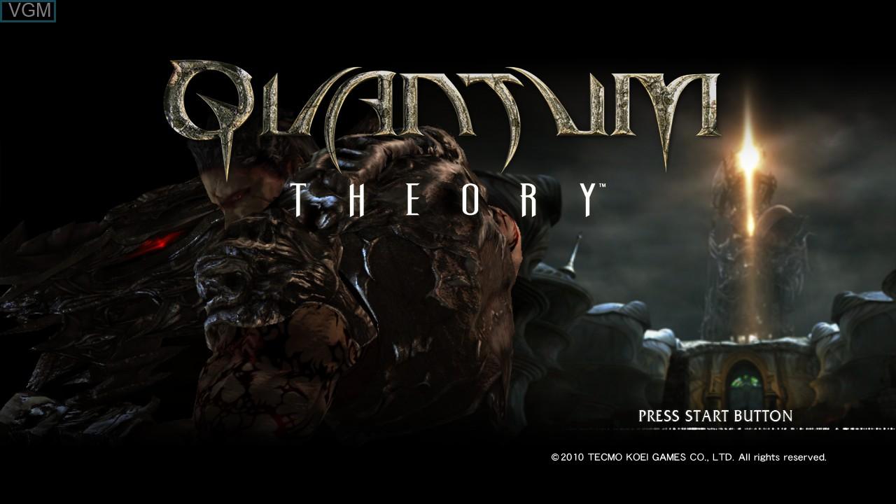 Image de l'ecran titre du jeu Quantum Theory sur Sony Playstation 3