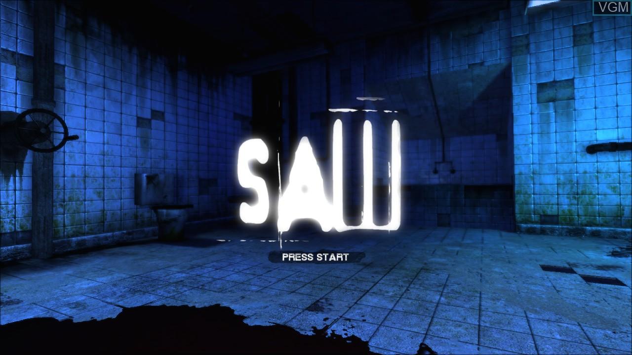 Image de l'ecran titre du jeu Saw sur Sony Playstation 3