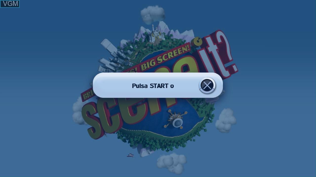 Image de l'ecran titre du jeu Scene It? Bright Lights! Big Screen! sur Sony Playstation 3