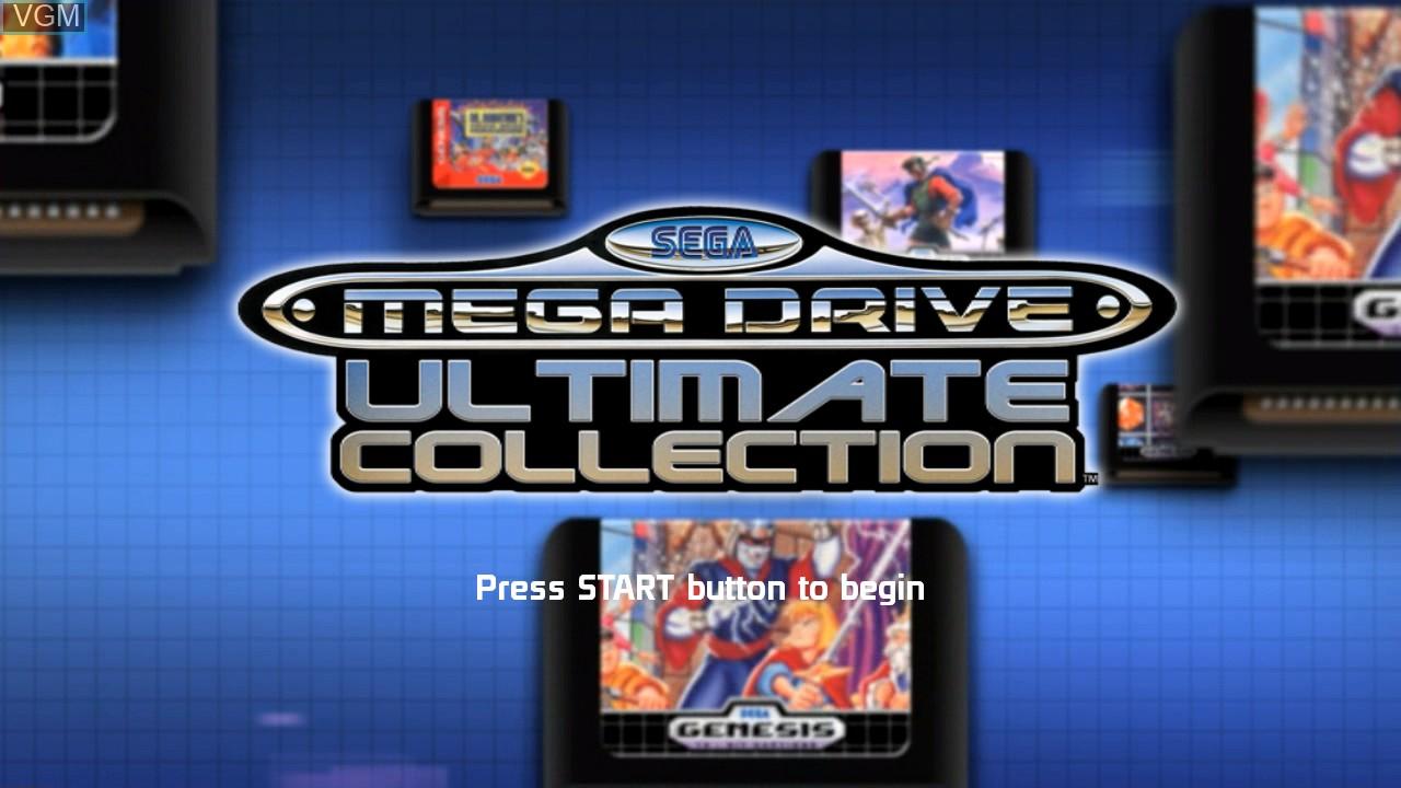Image de l'ecran titre du jeu SEGA Mega Drive Ultimate Collection sur Sony Playstation 3