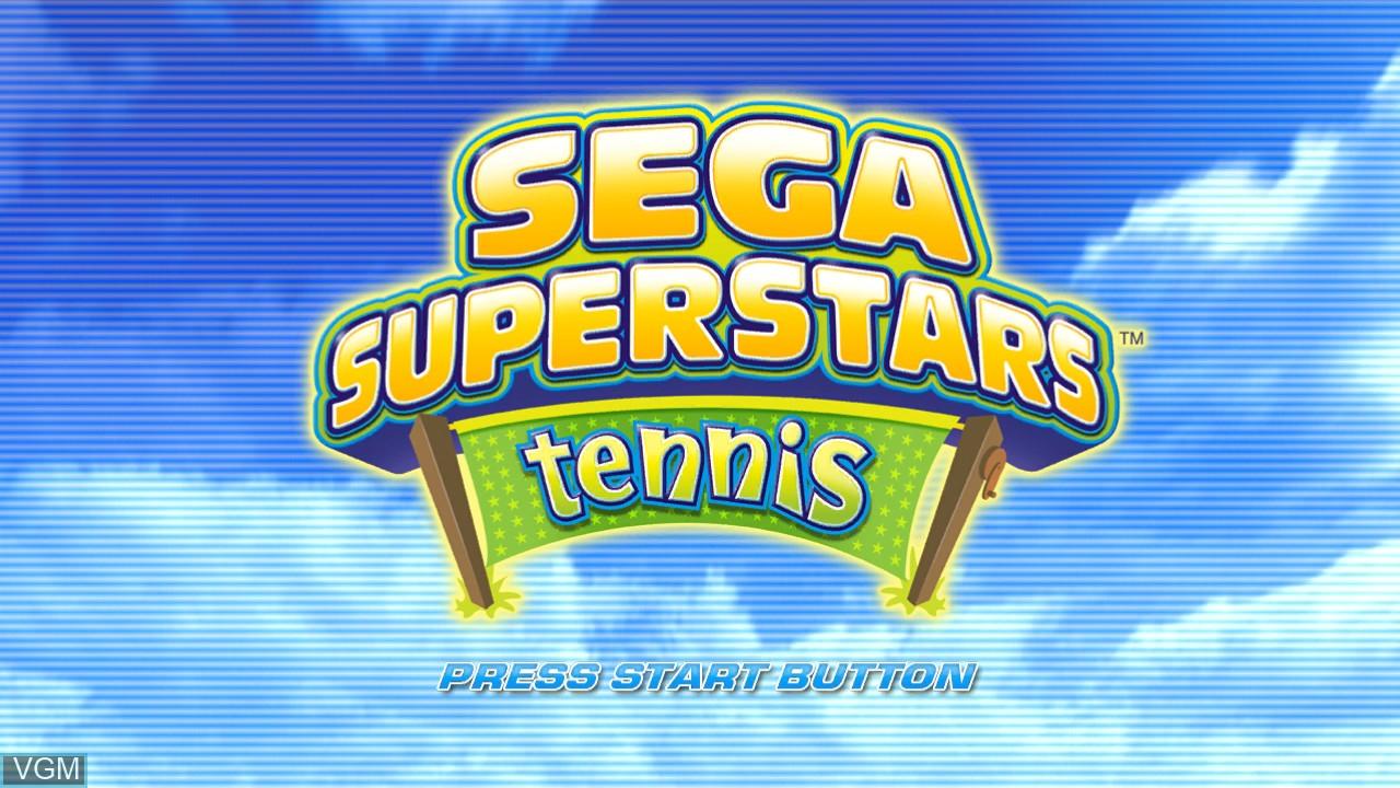 Image de l'ecran titre du jeu Sega Superstars Tennis sur Sony Playstation 3