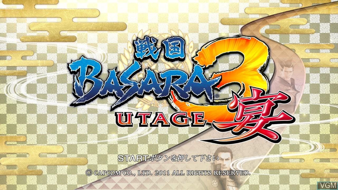 Image de l'ecran titre du jeu Sengoku Basara 3 Utage sur Sony Playstation 3