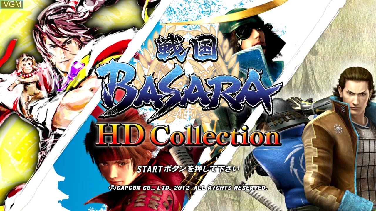 Image de l'ecran titre du jeu Sengoku Basara HD Collection sur Sony Playstation 3