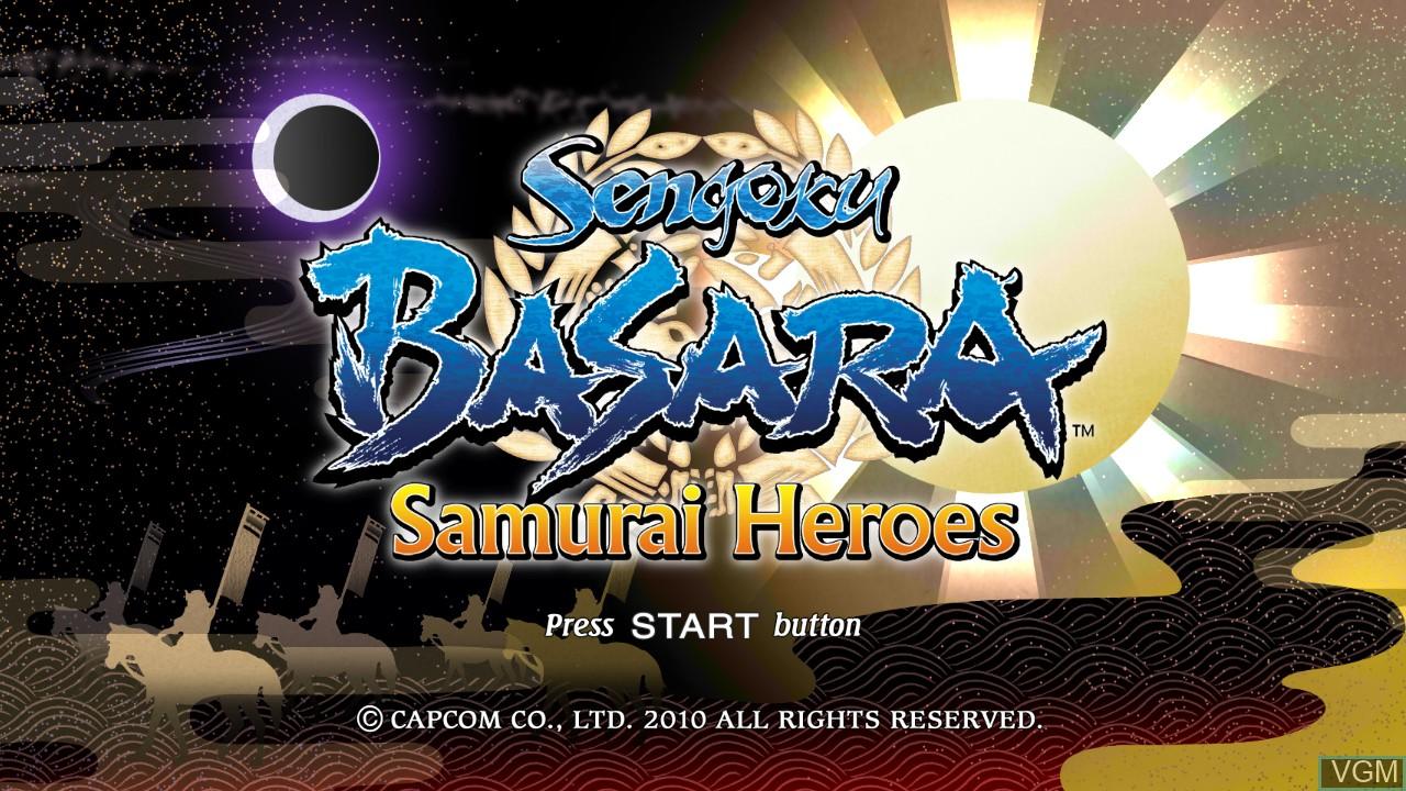 Image de l'ecran titre du jeu Sengoku Basara - Samurai Heroes sur Sony Playstation 3