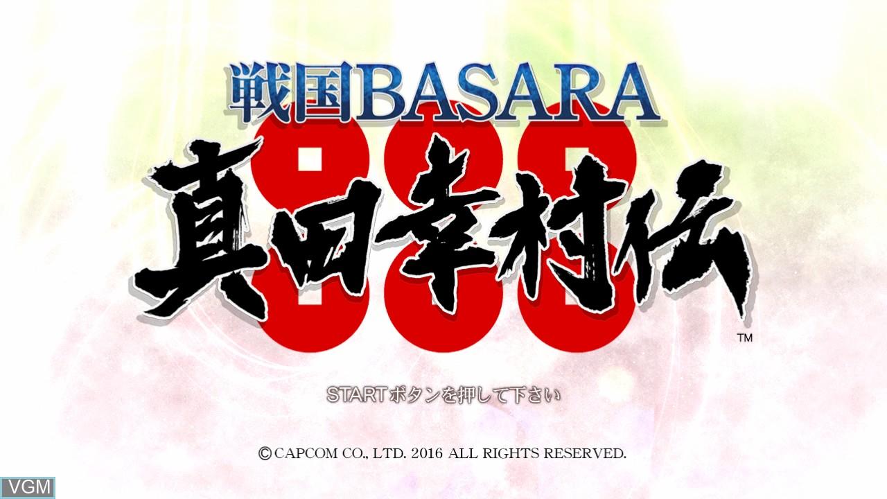 Image de l'ecran titre du jeu Sengoku Basara - Sanada Yukimura-Den sur Sony Playstation 3