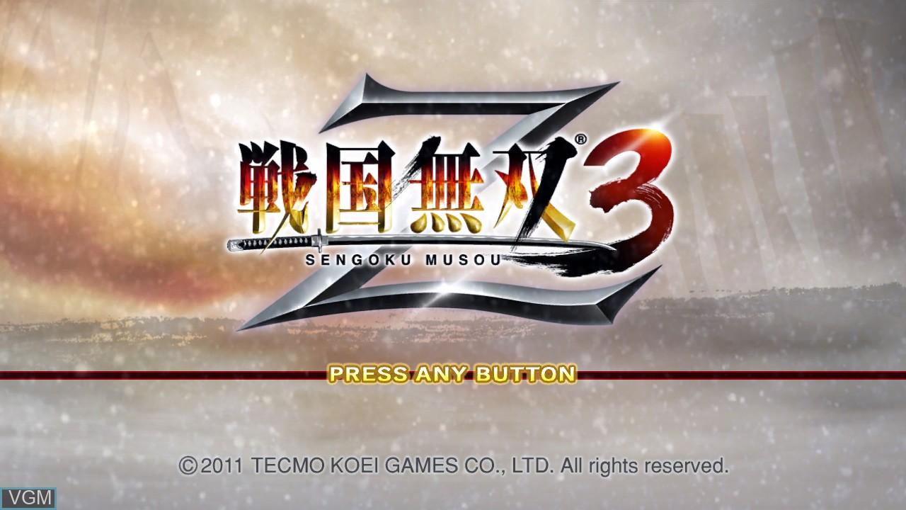 Image de l'ecran titre du jeu Sengoku Musou 3 Z sur Sony Playstation 3