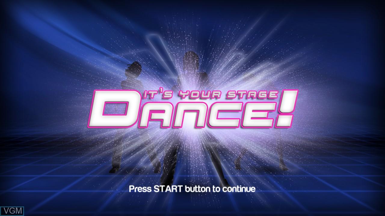 Image de l'ecran titre du jeu Dance! It's Your Stage sur Sony Playstation 3