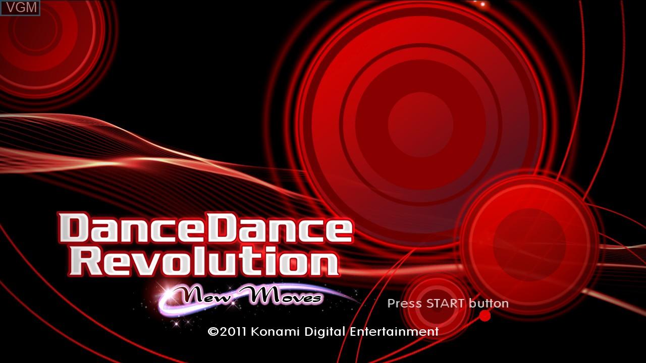 Image de l'ecran titre du jeu DanceDanceRevolution - New Moves sur Sony Playstation 3