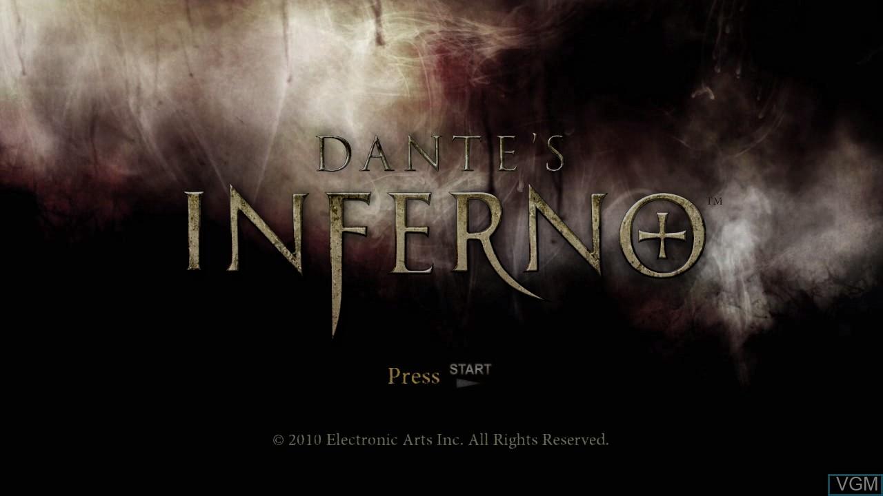 Image de l'ecran titre du jeu Dante's Inferno sur Sony Playstation 3