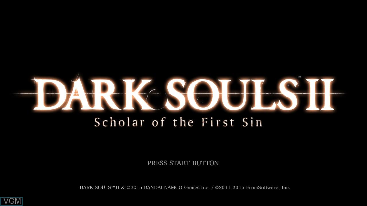 Image de l'ecran titre du jeu Dark Souls II sur Sony Playstation 3