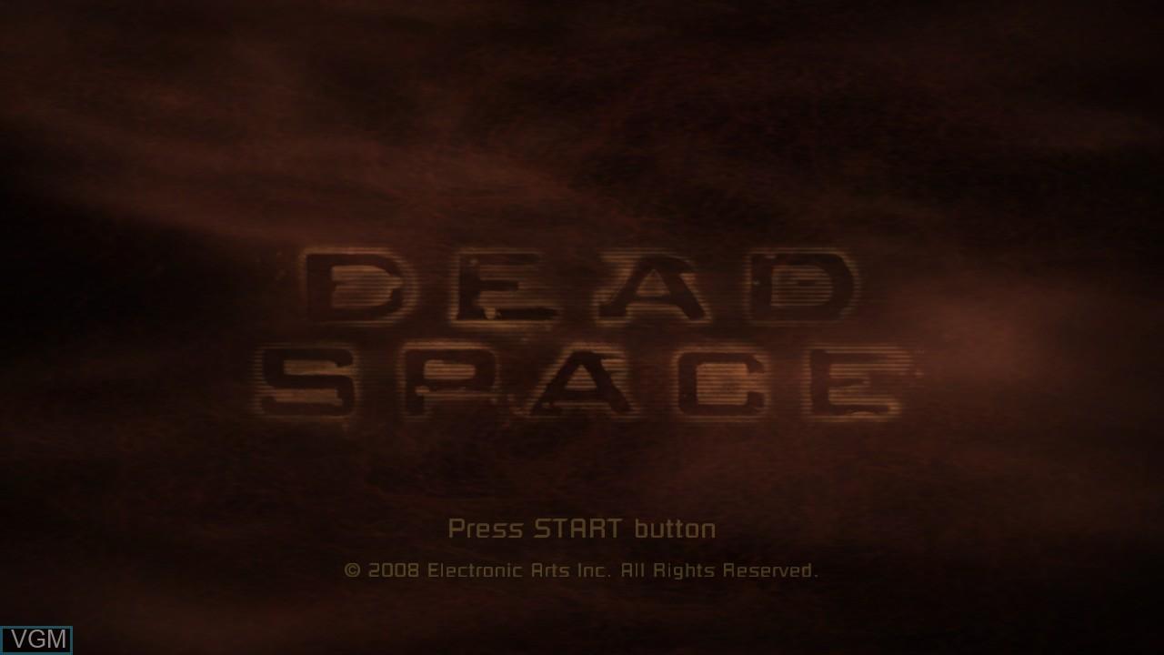 Image de l'ecran titre du jeu Dead Space sur Sony Playstation 3