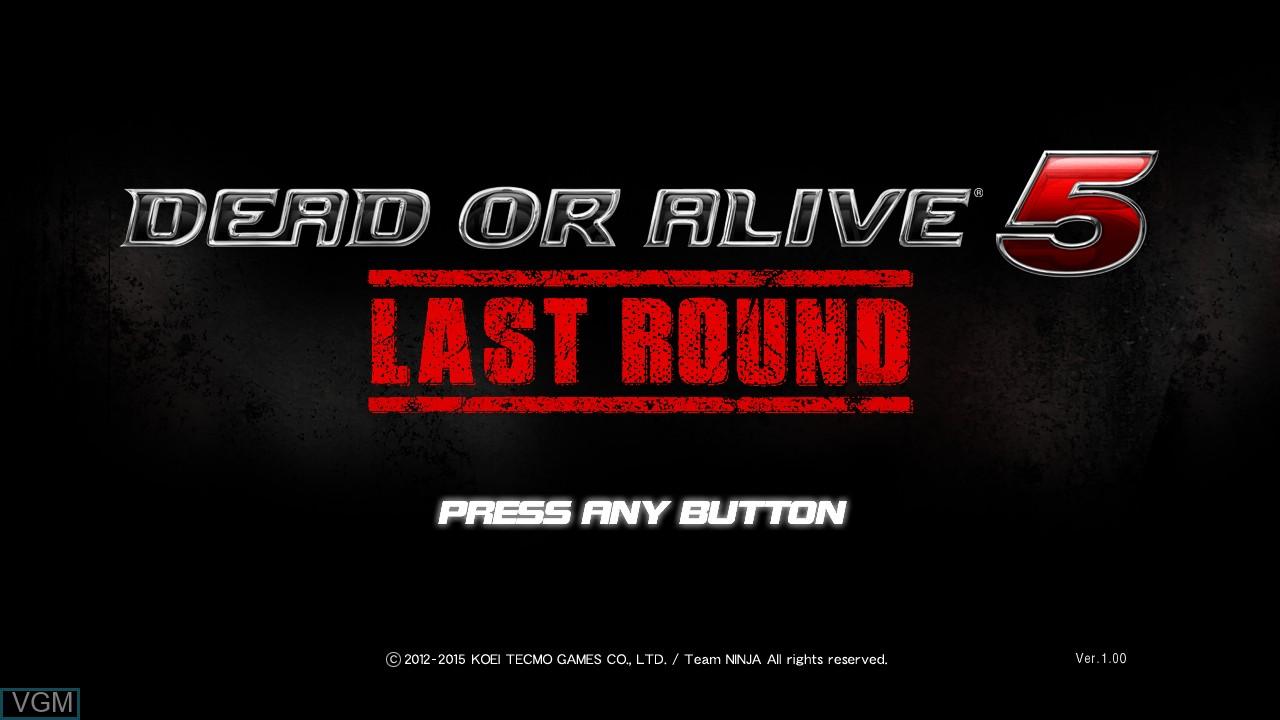 Image de l'ecran titre du jeu Dead or Alive 5 Last Round sur Sony Playstation 3