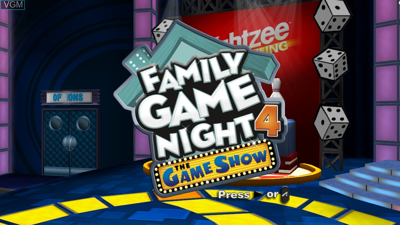 Image de l'ecran titre du jeu Family Game Night 4 - The Game Show sur Sony Playstation 3