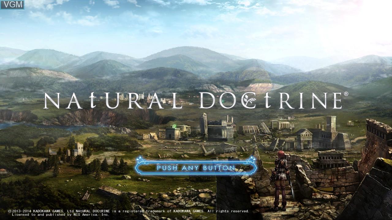 Image de l'ecran titre du jeu Natural Doctrine sur Sony Playstation 3