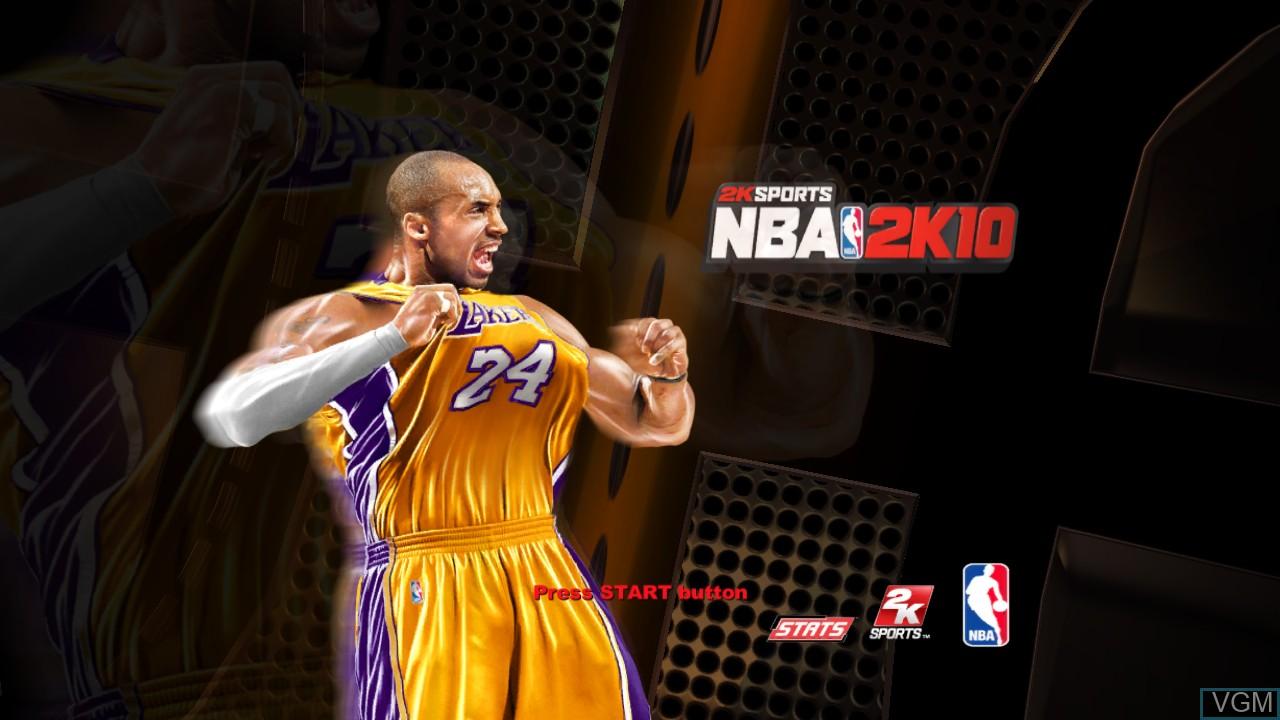 Image de l'ecran titre du jeu NBA 2K10 sur Sony Playstation 3