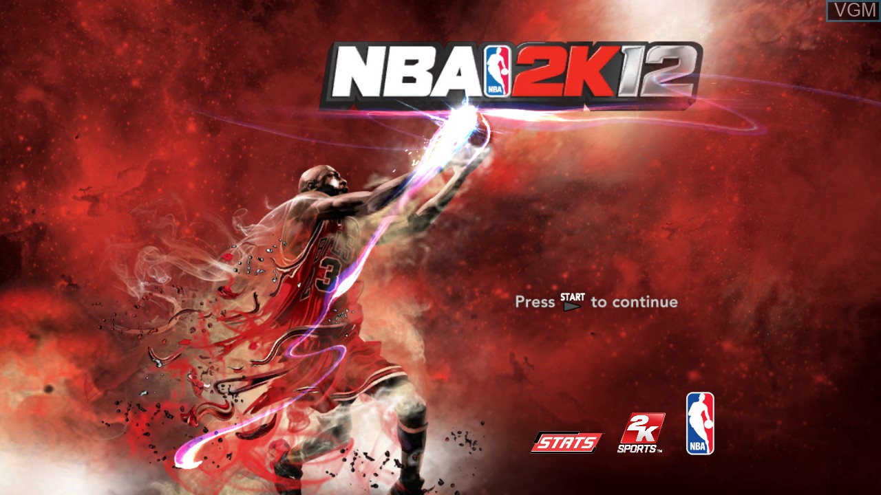 Image de l'ecran titre du jeu NBA 2K12 sur Sony Playstation 3