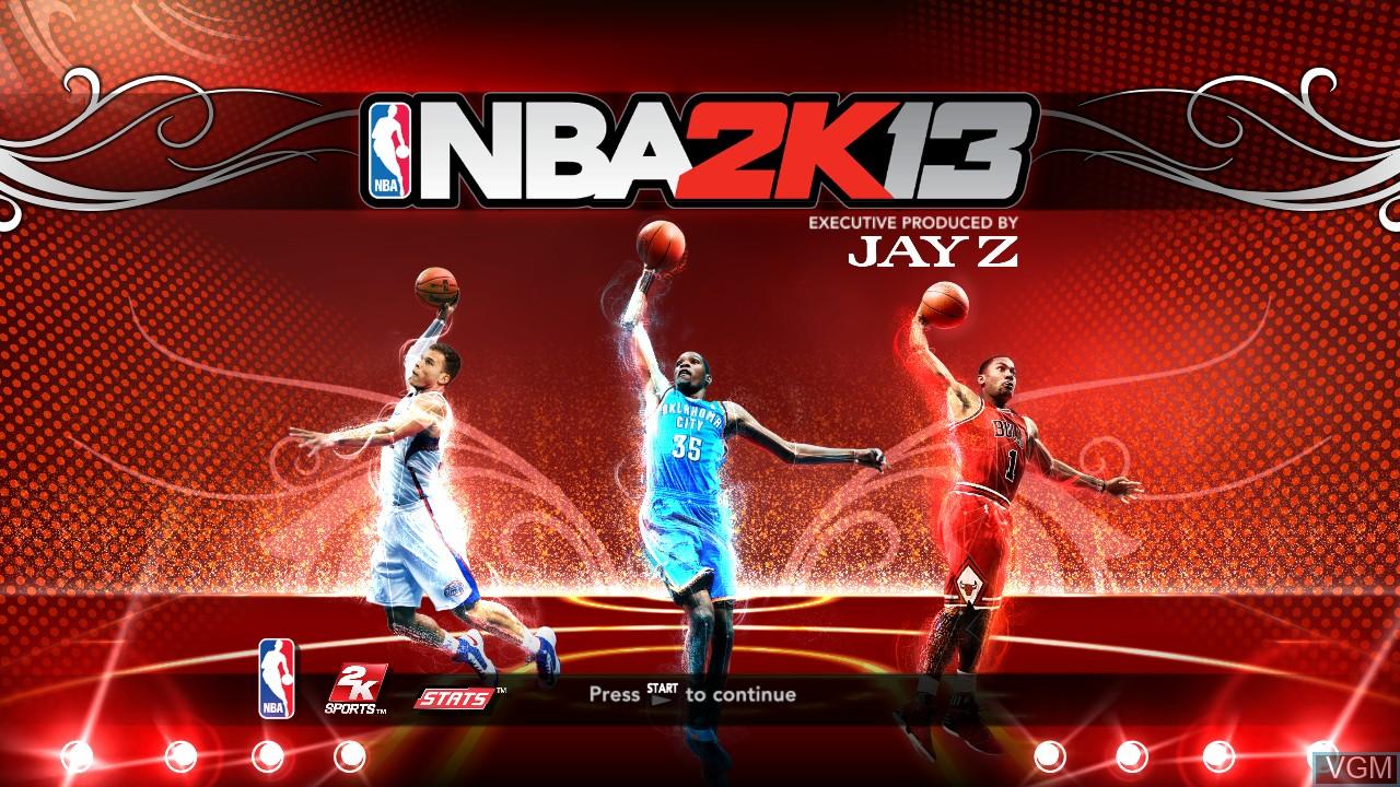 Image de l'ecran titre du jeu NBA 2K13 sur Sony Playstation 3