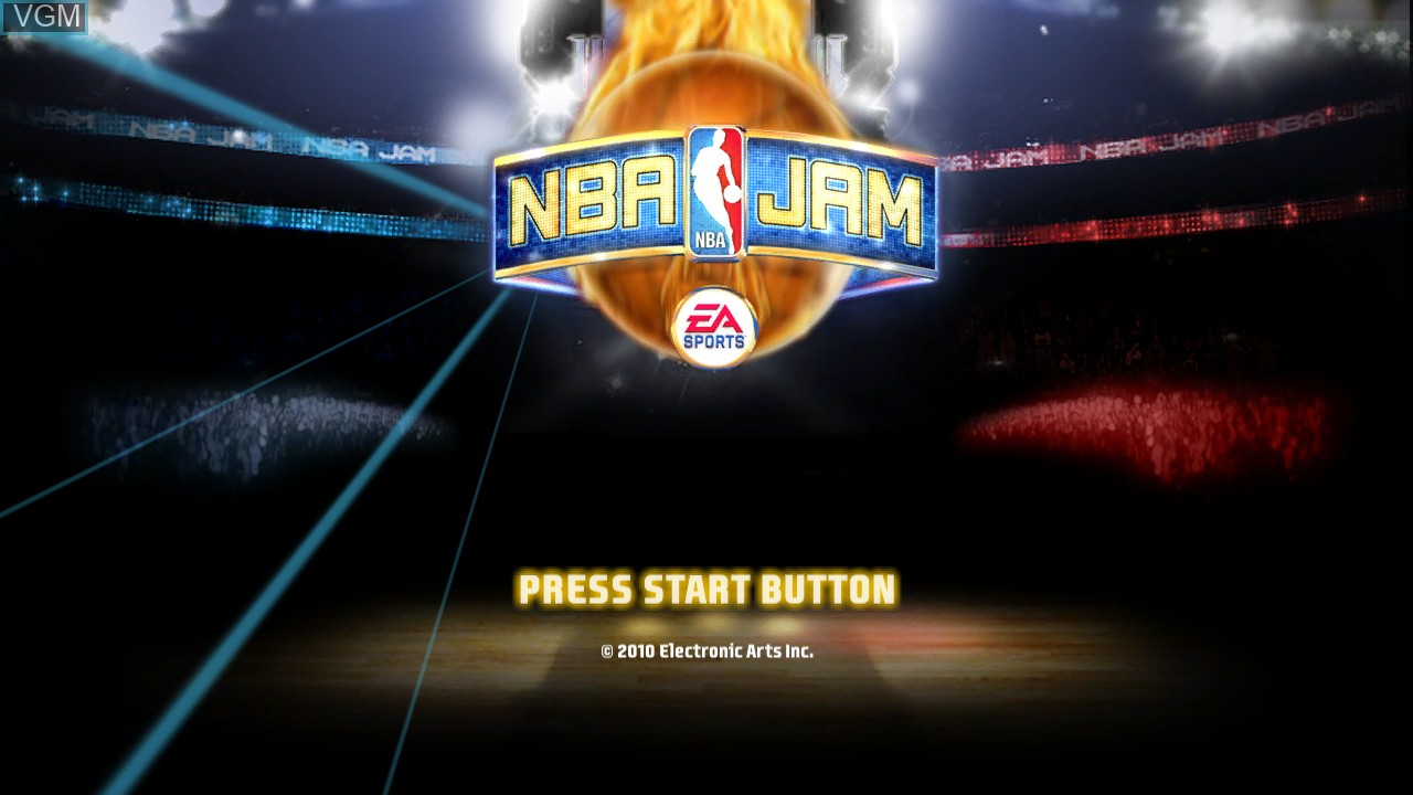 Image de l'ecran titre du jeu NBA Jam sur Sony Playstation 3