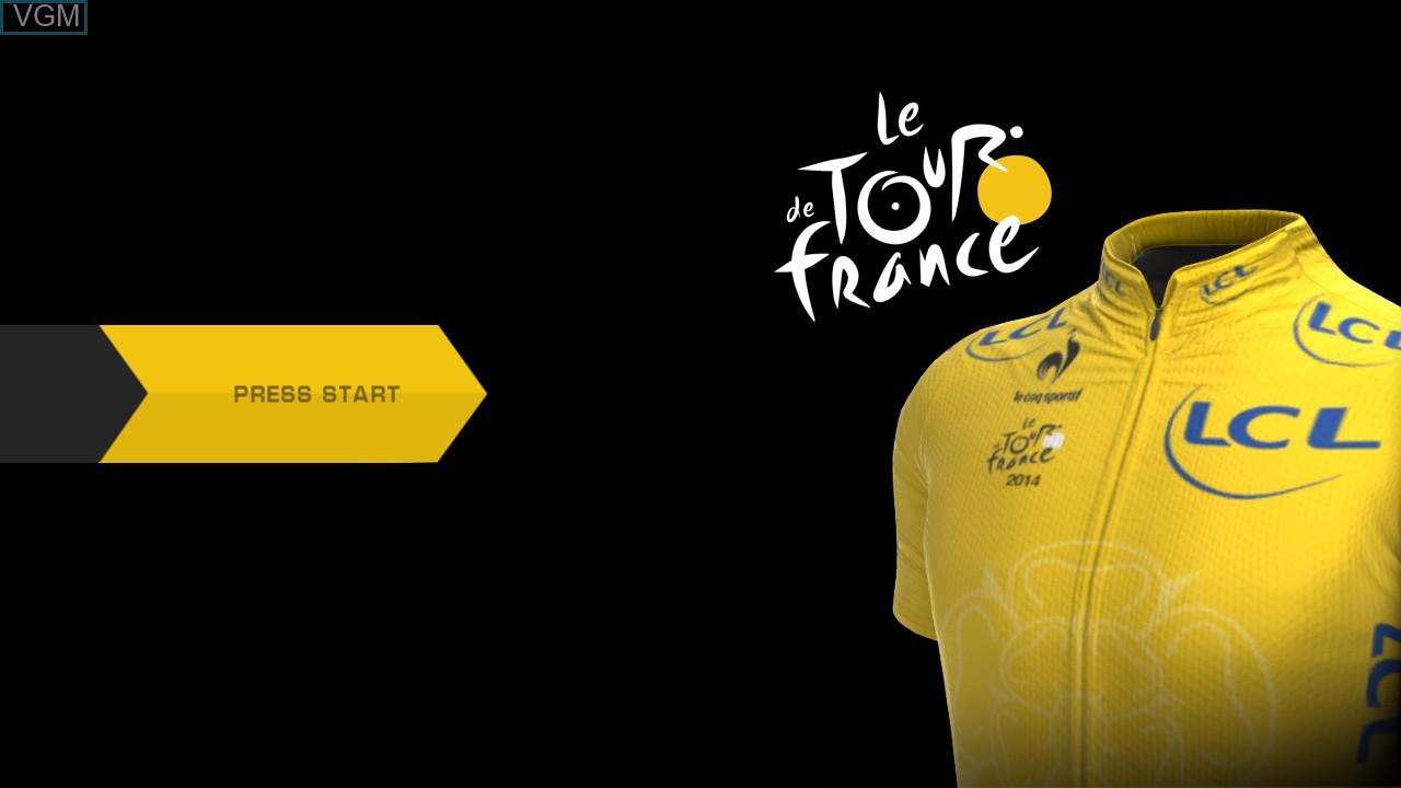 Image de l'ecran titre du jeu Tour de France 2014, Le sur Sony Playstation 3