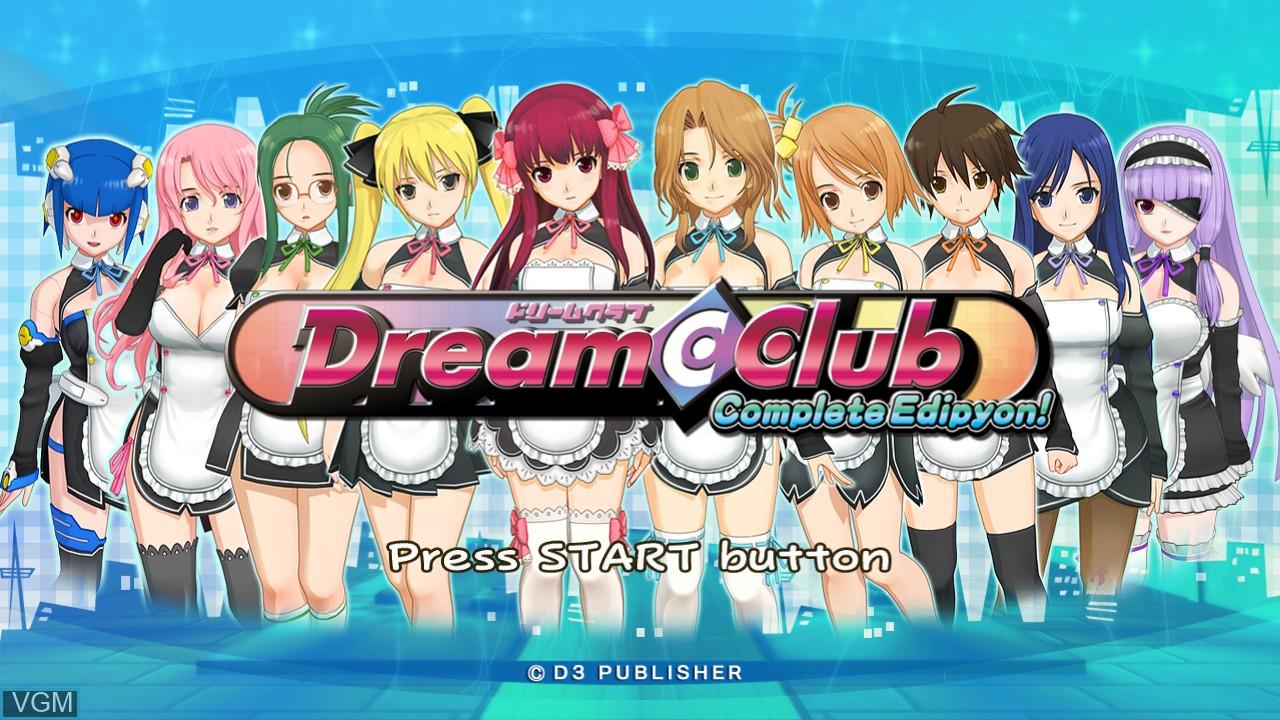 Image de l'ecran titre du jeu Dream C Club - Complete Edipyon! sur Sony Playstation 3