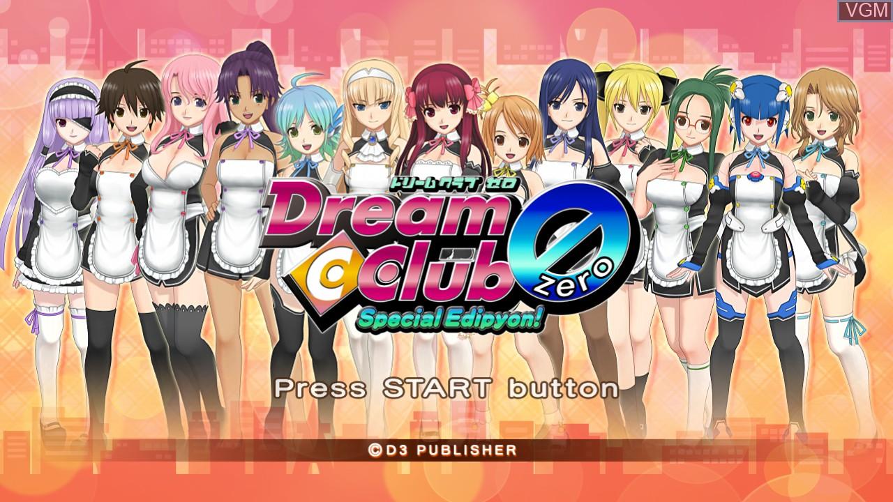 Image de l'ecran titre du jeu Dream C Club Zero - Special Edipyon! sur Sony Playstation 3