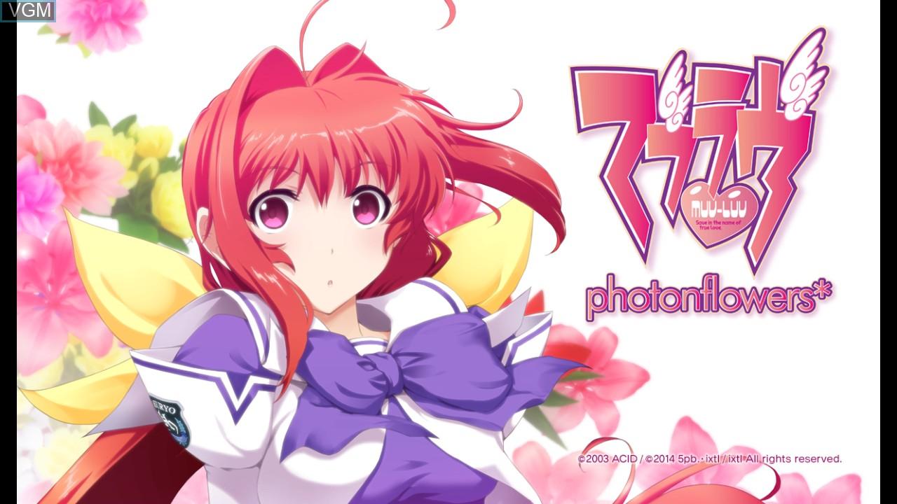 Image de l'ecran titre du jeu Muv-Luv - photonflowers sur Sony Playstation 3