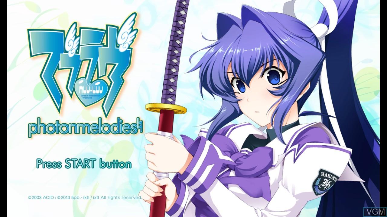 Image de l'ecran titre du jeu Muv-Luv - photonmelodies sur Sony Playstation 3