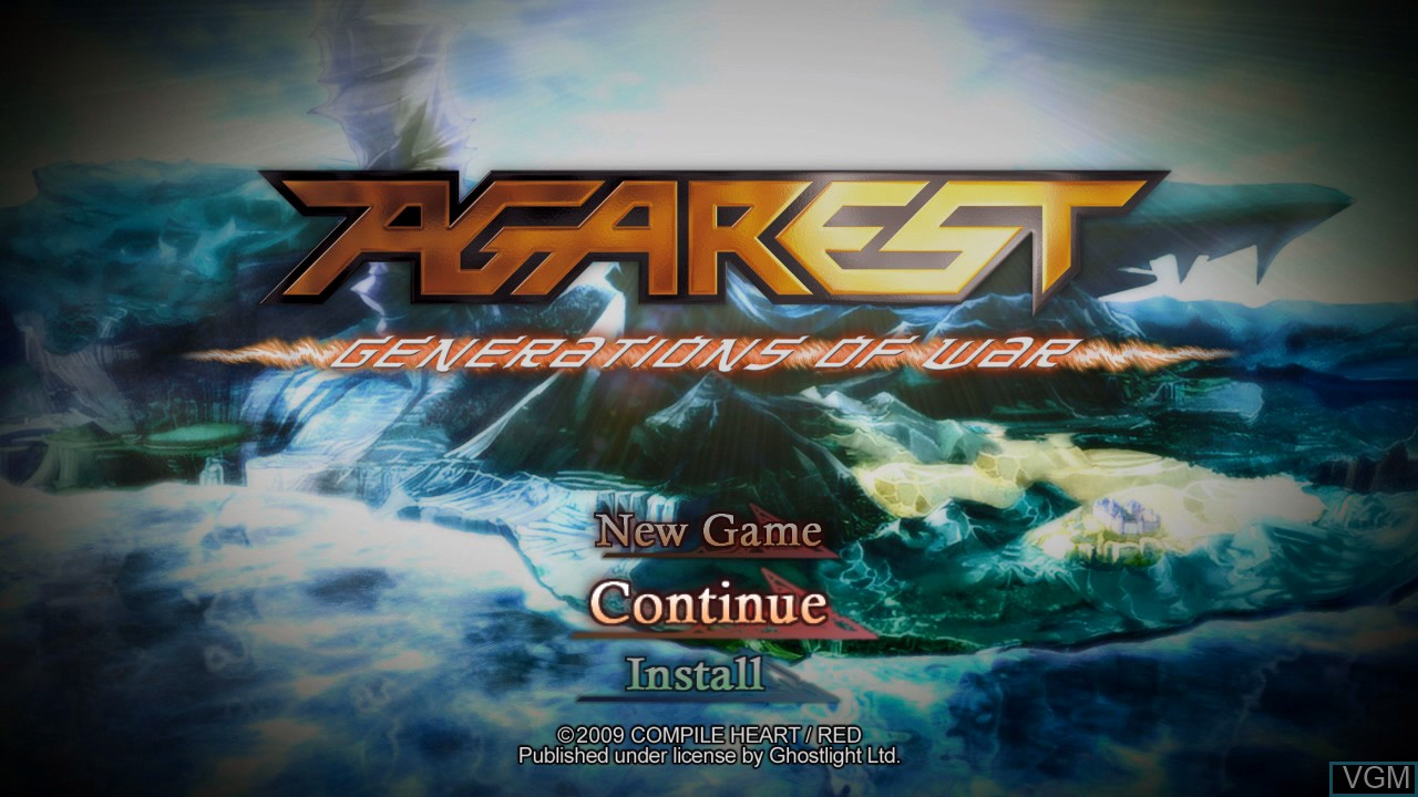 Image de l'ecran titre du jeu Agarest - Generations of War sur Sony Playstation 3