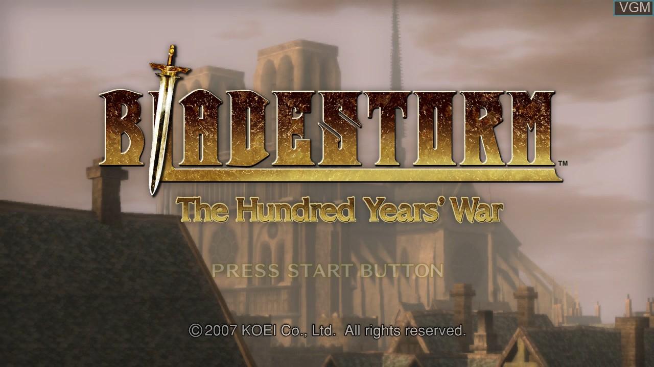 Image de l'ecran titre du jeu Bladestorm - The Hundred Years' War sur Sony Playstation 3