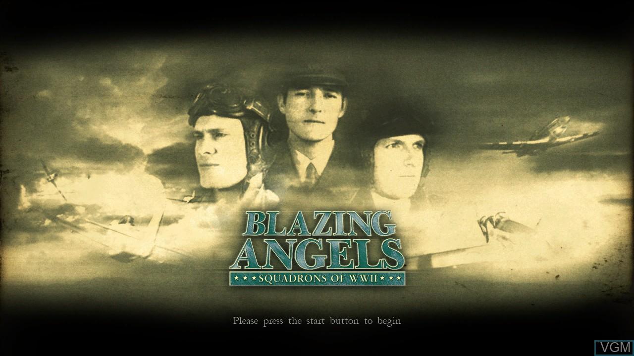 Image de l'ecran titre du jeu Blazing Angels - Squadrons of WWII sur Sony Playstation 3