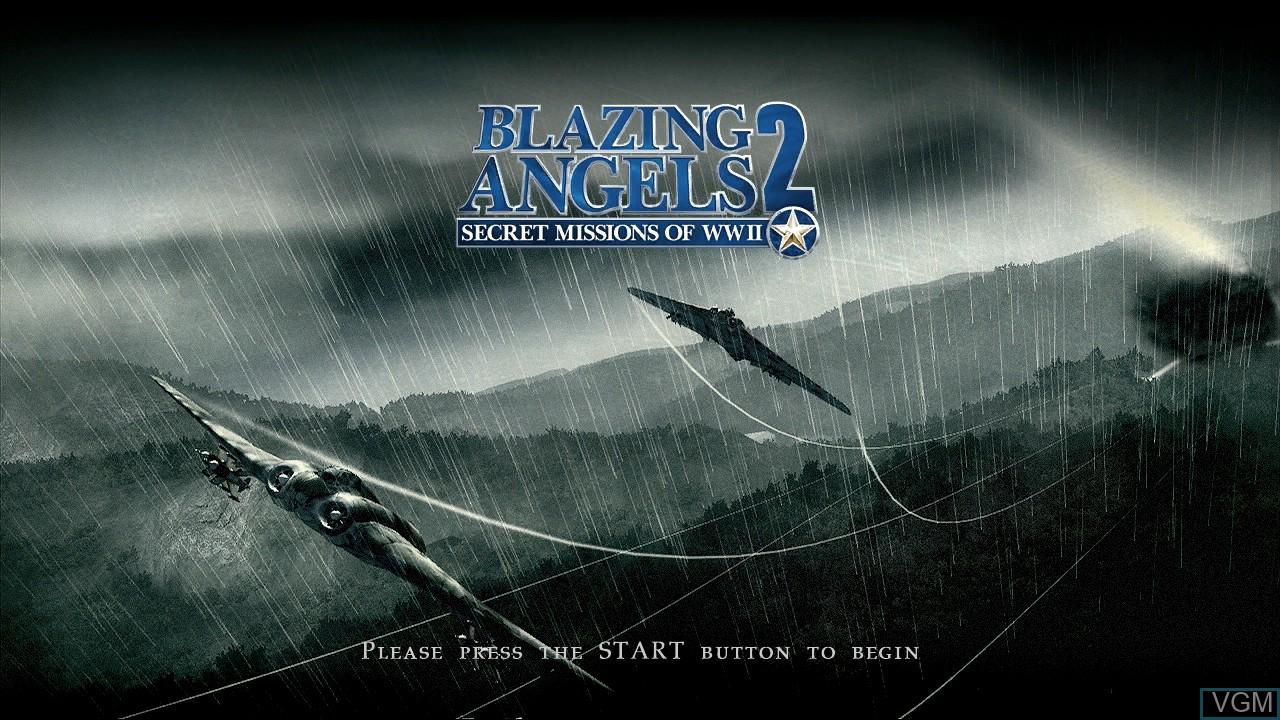Image de l'ecran titre du jeu Blazing Angels 2 - Secret Missions of WWII sur Sony Playstation 3