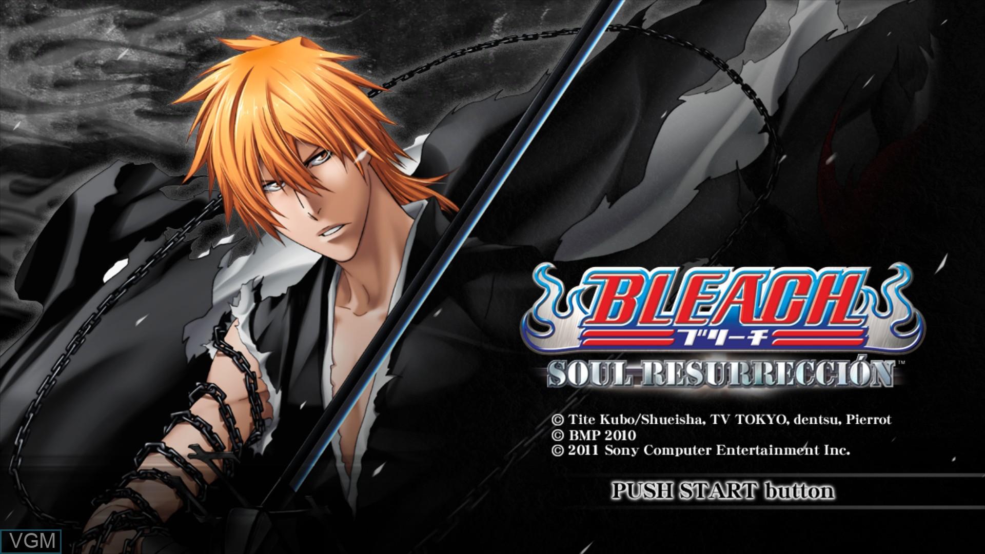 Image de l'ecran titre du jeu Bleach - Soul Resurreccion sur Sony Playstation 3